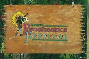 Photo of Ren Fest entrance sign.