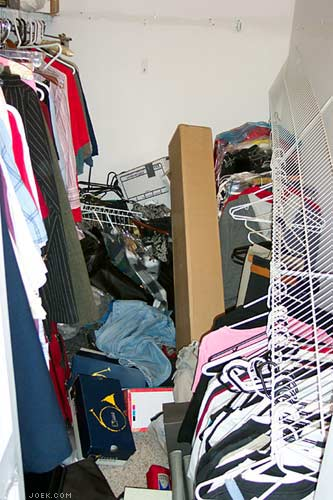 Photo of our closet after two (of three) full shelves collapsed.