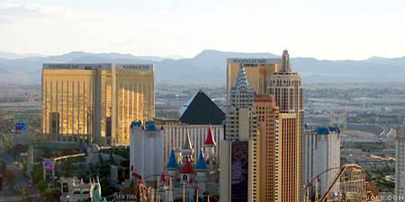 Photo overlooking the Las Vegas Strip, south.