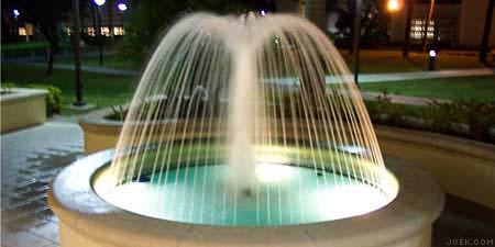 A water fountain at Lynn University.
