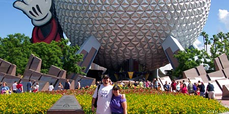 Joe & Judy at Epcot.