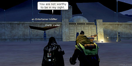 Screen shot from the Star Wars Galaxies online game.